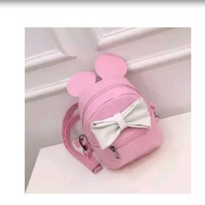 Handbags - Pink white mouse ears mini backpack